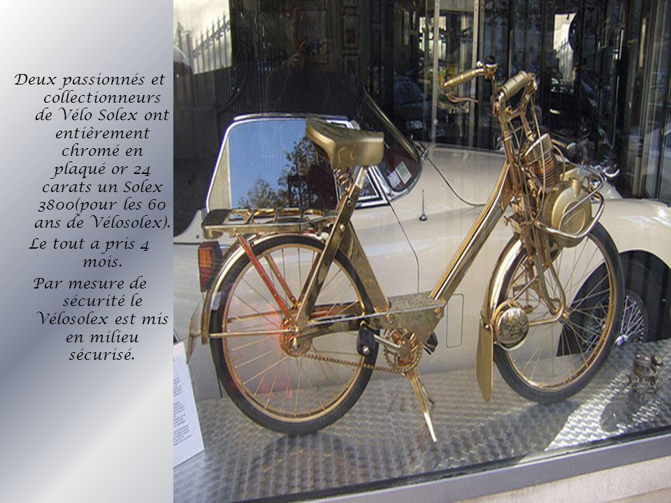 Par mesure de sécurité le Vélosolex est mis en milieu sécurisé.