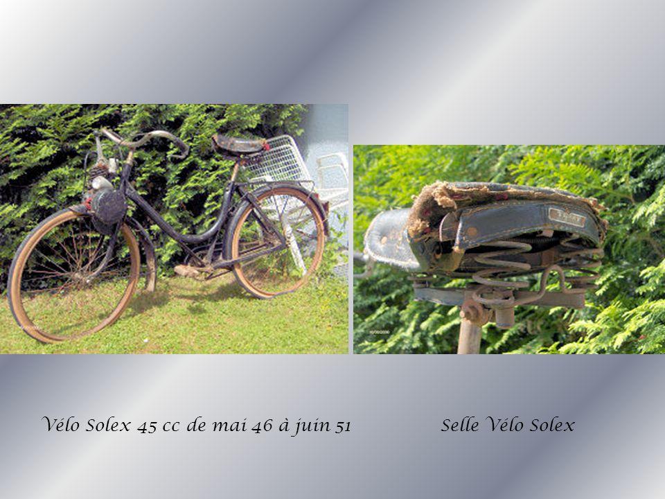 Vélo Solex 45 cc de mai 46 à juin 51 Selle Vélo Solex