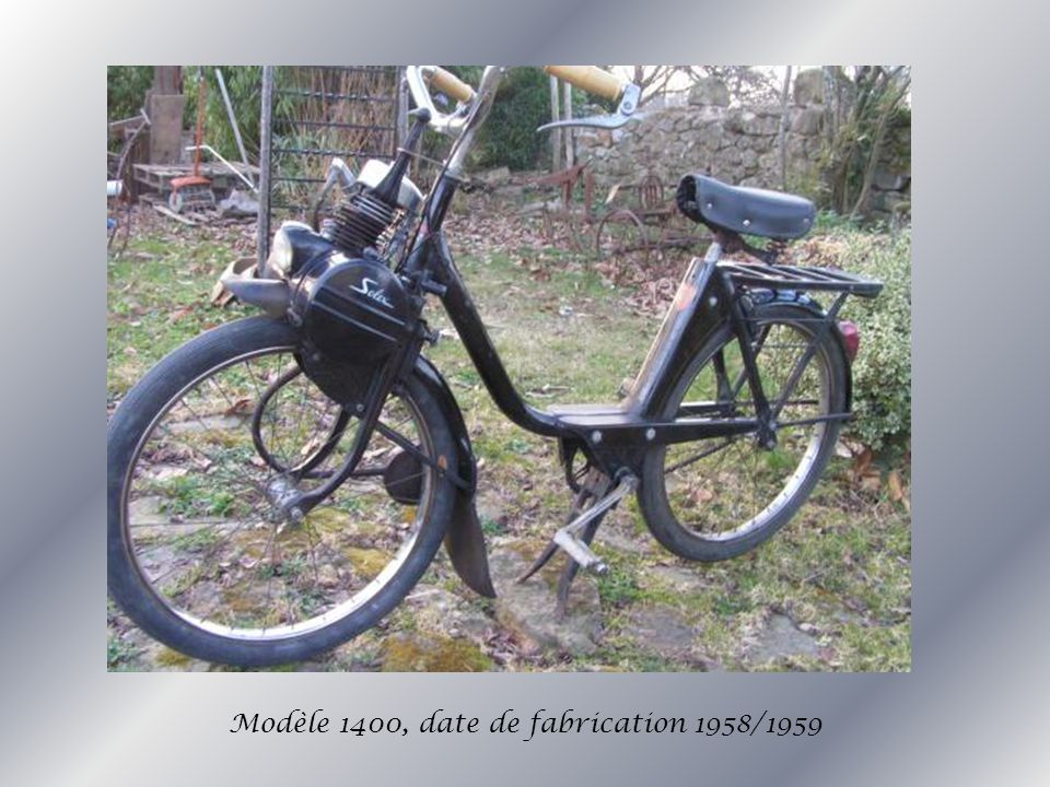 Modèle 1400, date de fabrication 1958/1959