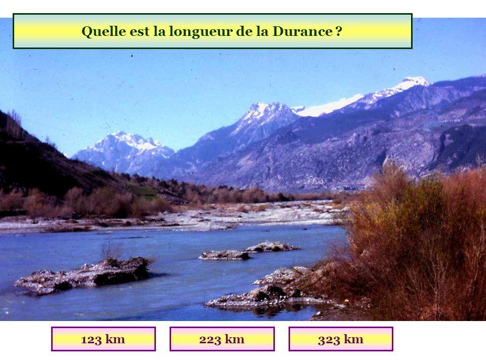 Quelle est la longueur de la Durance