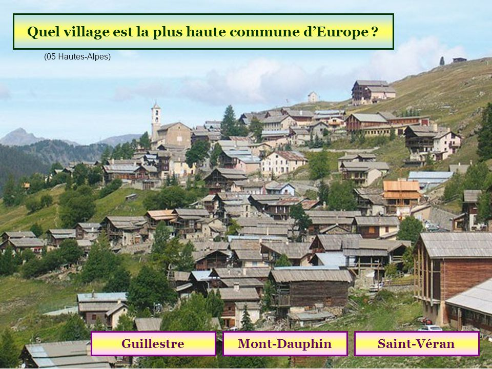 Quel village est la plus haute commune d'Europe