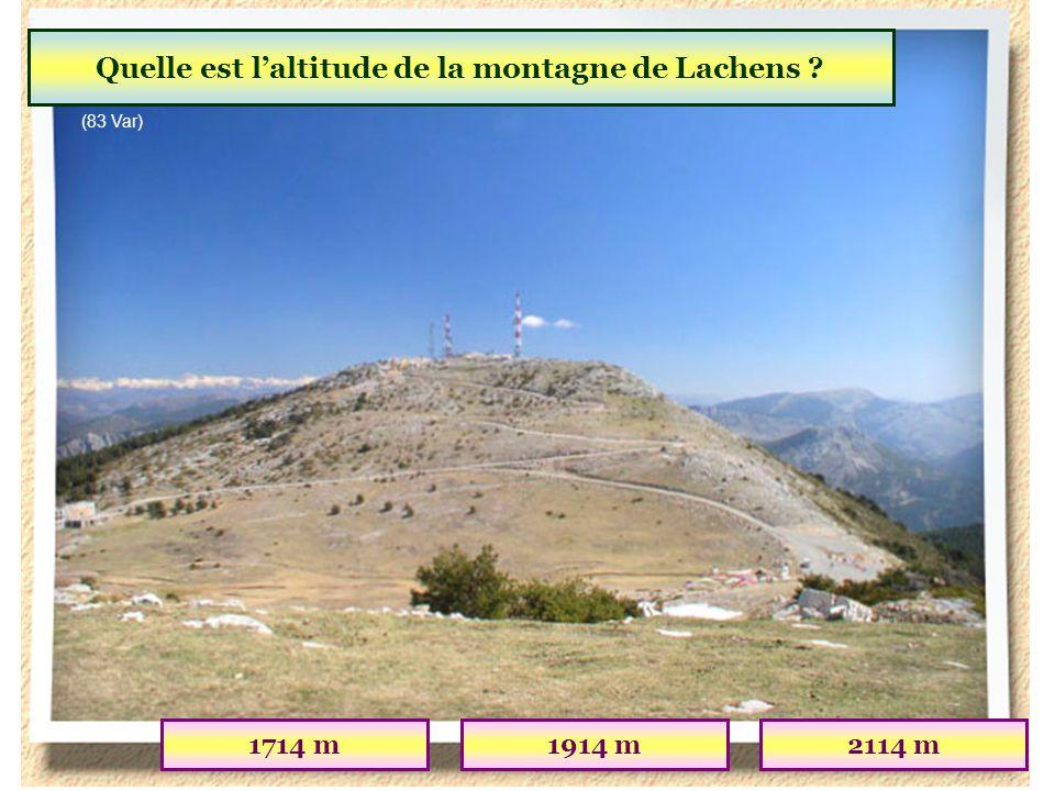 Quelle est l'altitude de la montagne de Lachens