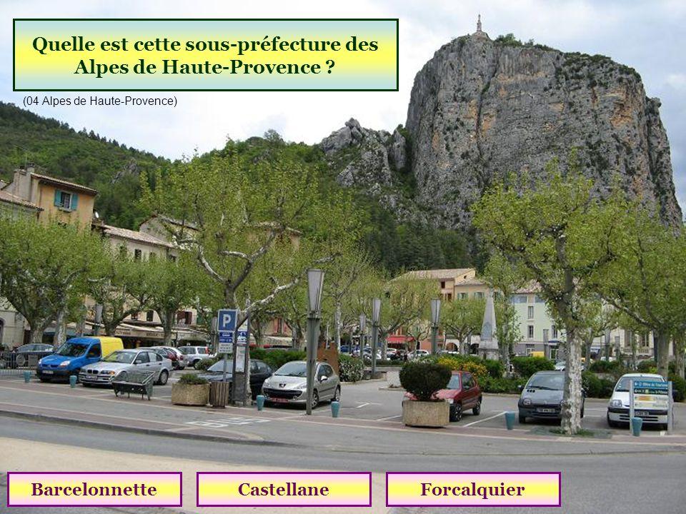 Quelle est cette sous-préfecture des Alpes de Haute-Provence