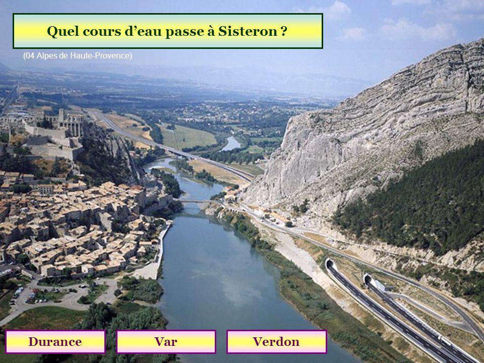 Quel cours d'eau passe à Sisteron