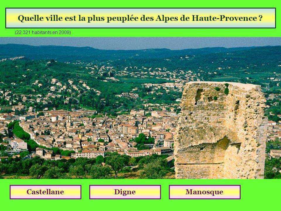 Quelle ville est la plus peuplée des Alpes de Haute-Provence