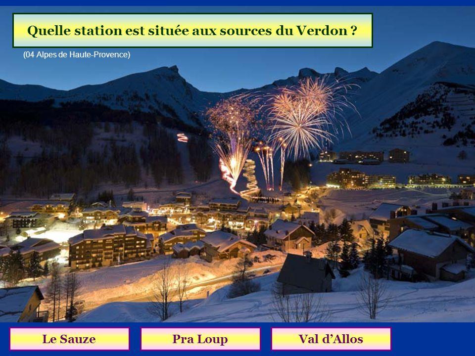 Quelle station est située aux sources du Verdon