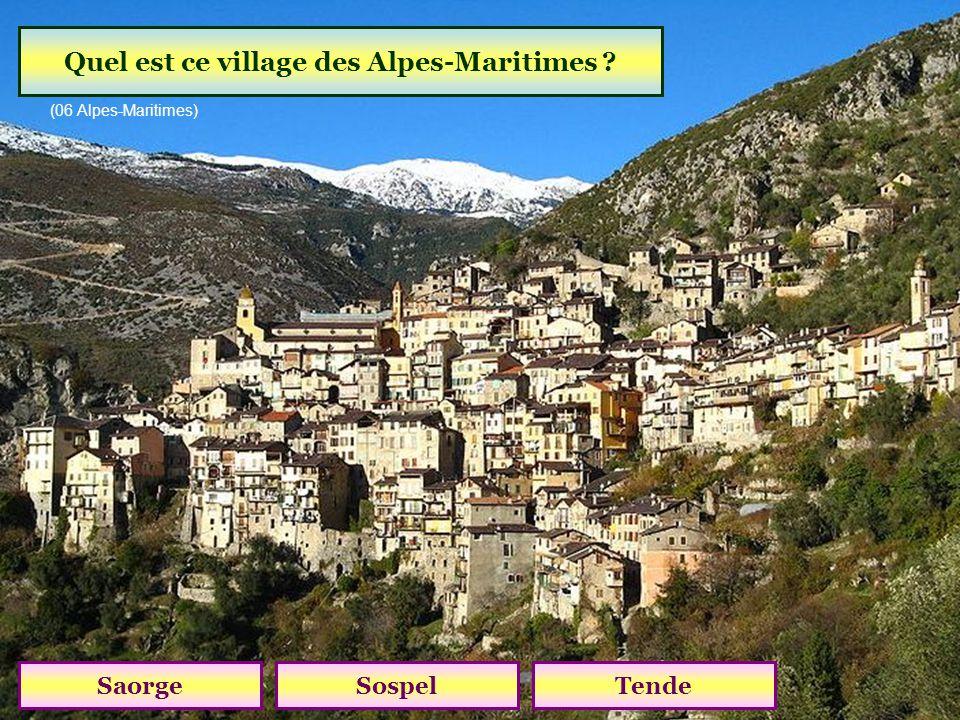Quel est ce village des Alpes-Maritimes