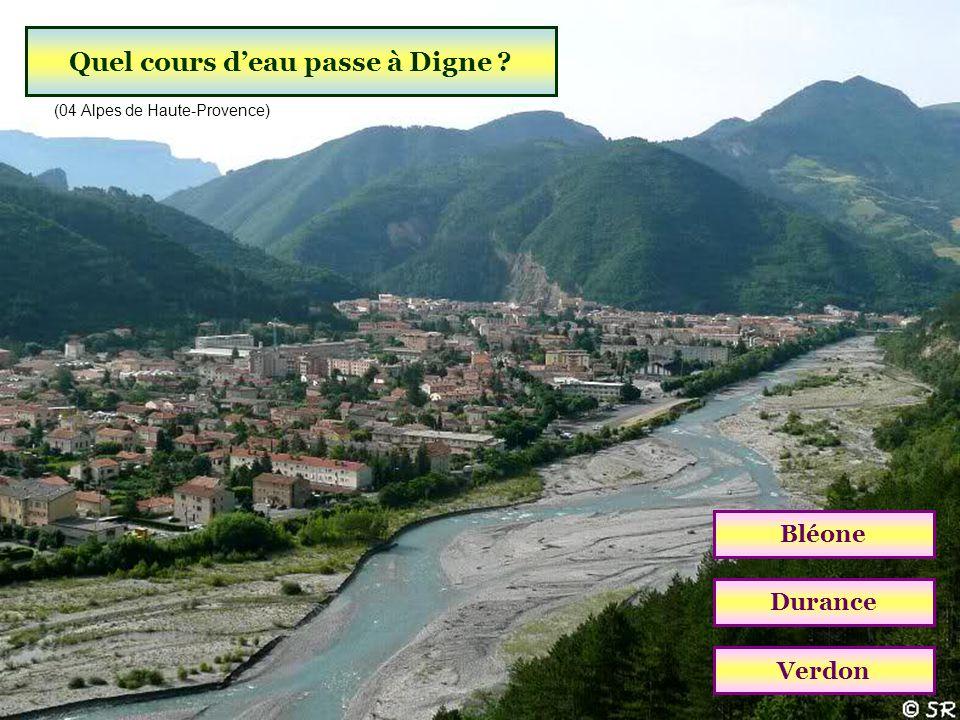 Quel cours d'eau passe à Digne