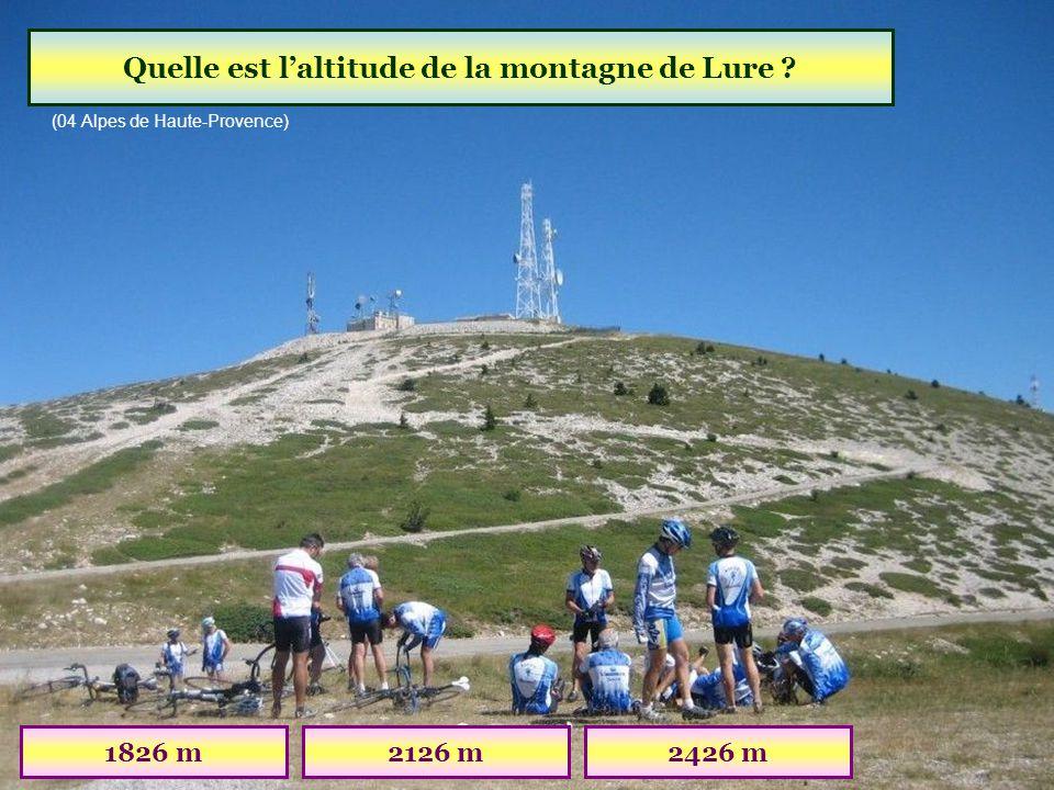 Quelle est l'altitude de la montagne de Lure