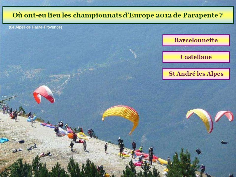 Où ont-eu lieu les championnats d'Europe 2012 de Parapente