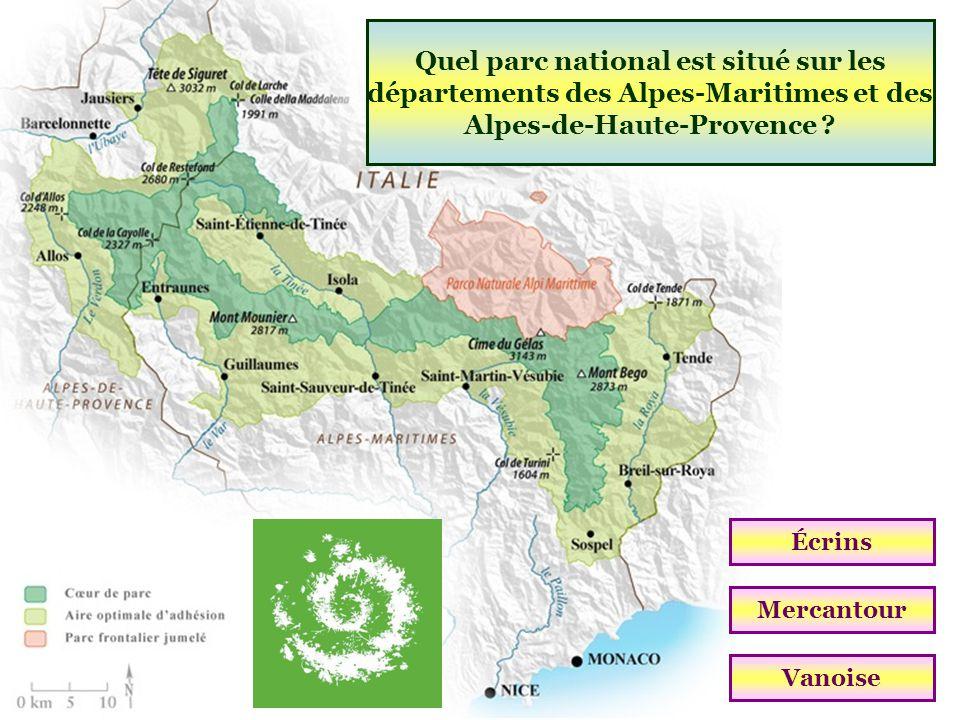 Quel parc national est situé sur les départements des Alpes-Maritimes et des Alpes-de-Haute-Provence