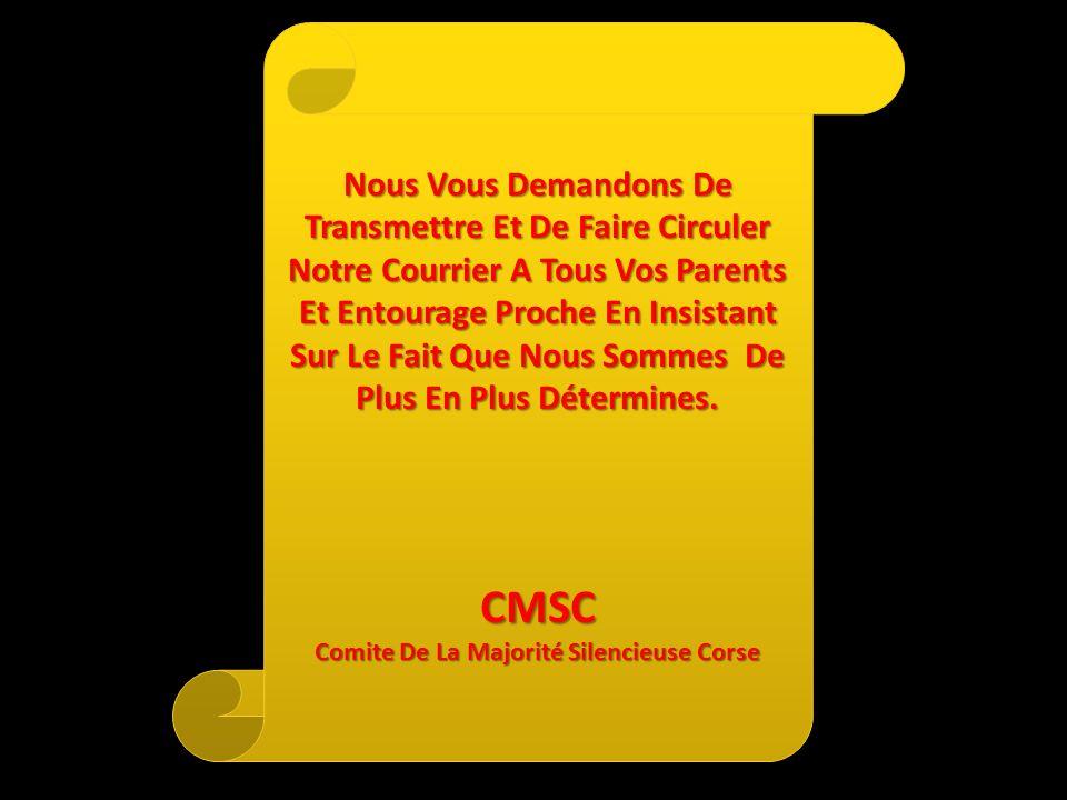 Comite De La Majorité Silencieuse Corse
