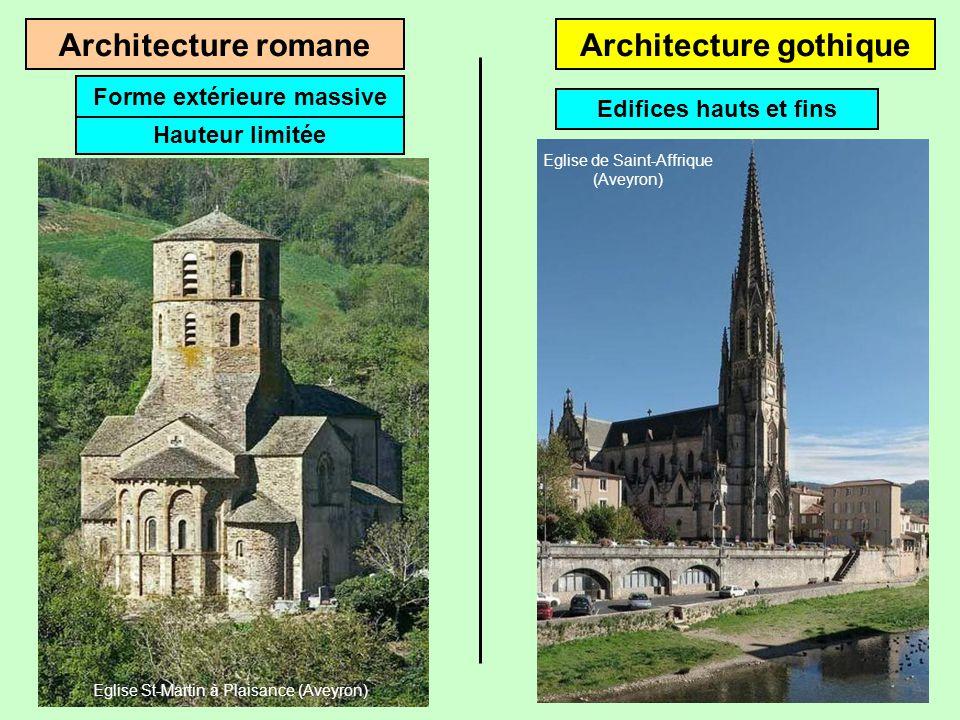 Les cath drales cliquez pour avancer basiliques et for Architecture romane et gothique