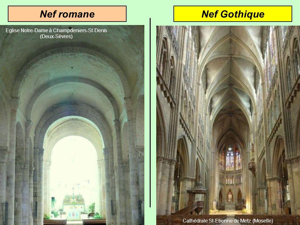 Nef romane Nef Gothique