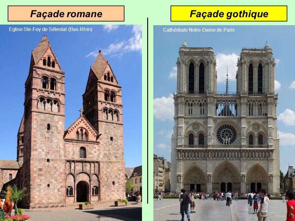 Façade romane Façade gothique