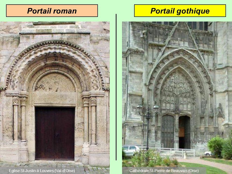 Portail roman Portail gothique
