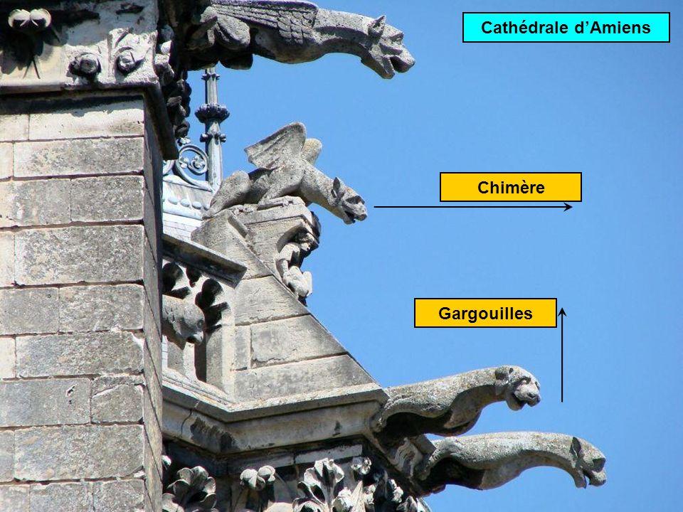 Cathédrale d'Amiens Chimère Gargouilles