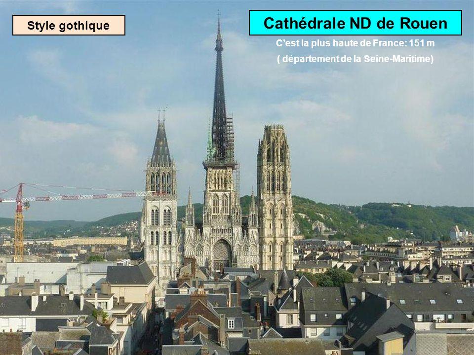 Cathédrale ND de Rouen Style gothique