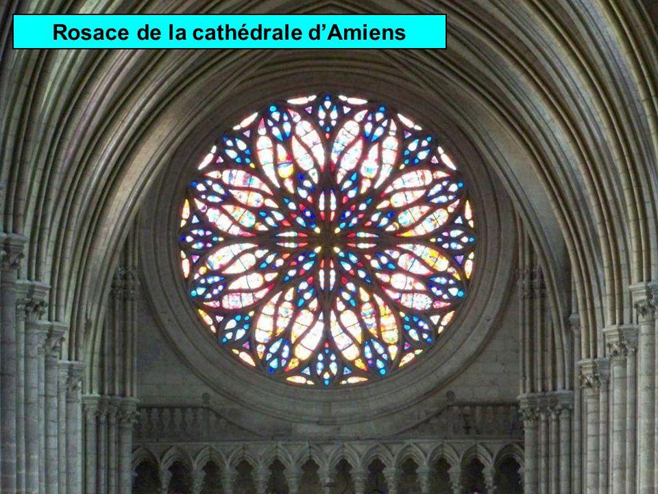 Rosace de la cathédrale d'Amiens