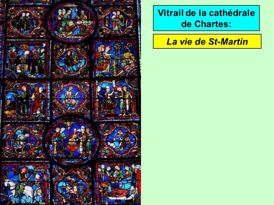 Vitrail de la cathédrale de Chartes: