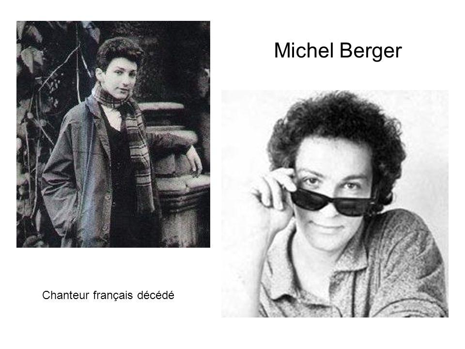Michel Berger Chanteur français décédé