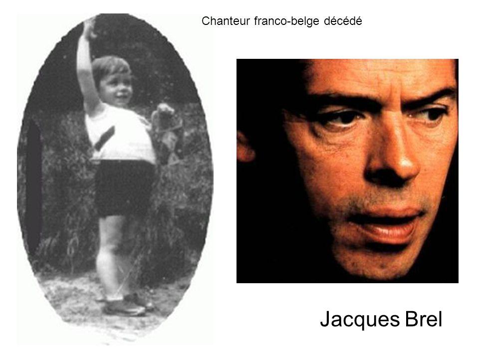 Chanteur franco-belge décédé