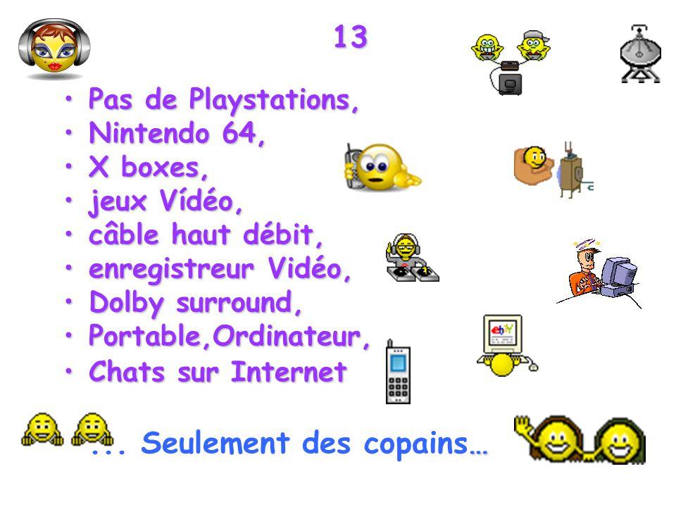 13 Pas de Playstations, Nintendo 64, X boxes, jeux Vídéo,