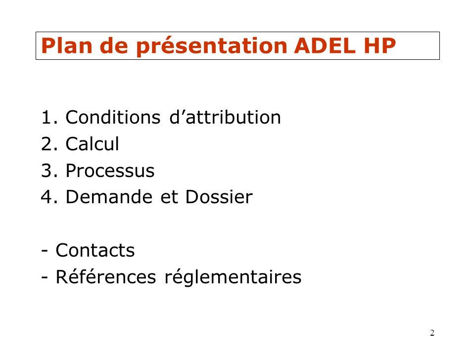 Plan de présentation ADEL HP