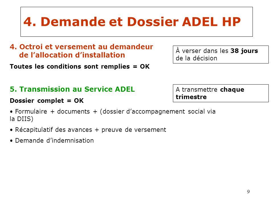 4. Demande et Dossier ADEL HP