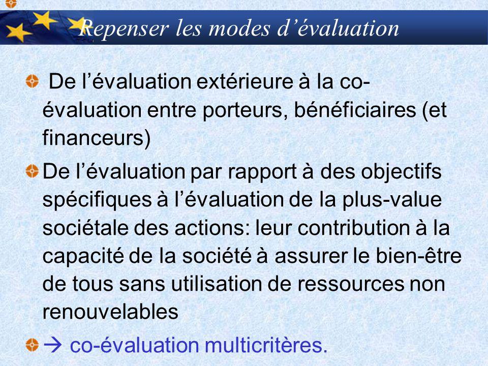 Repenser les modes d'évaluation