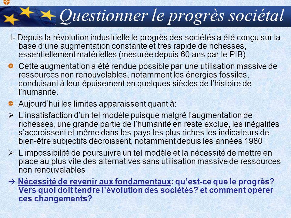 Questionner le progrès sociétal