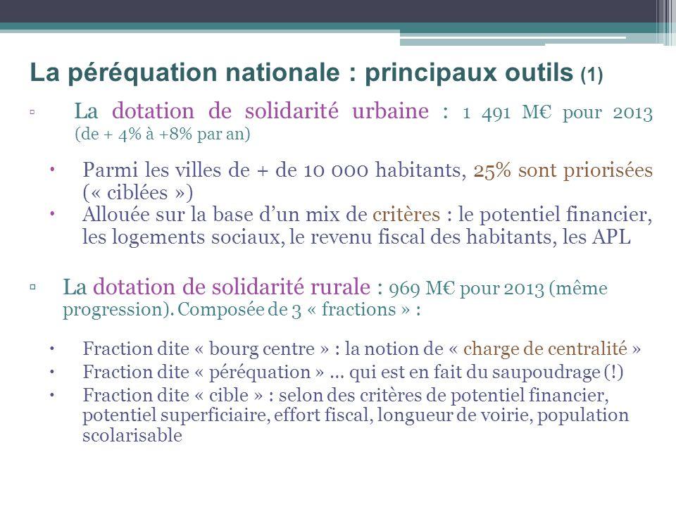 La péréquation nationale : principaux outils (1)