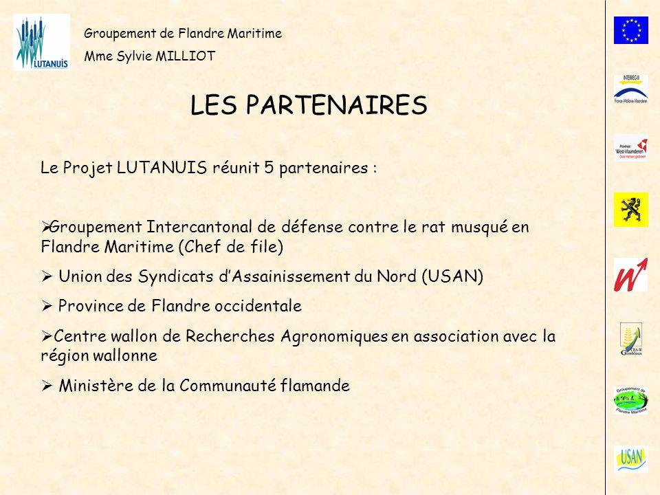 LES PARTENAIRES Le Projet LUTANUIS réunit 5 partenaires :