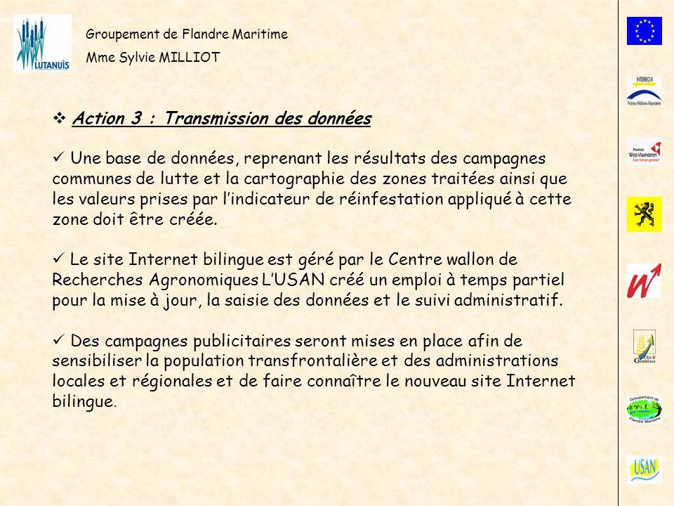 Action 3 : Transmission des données