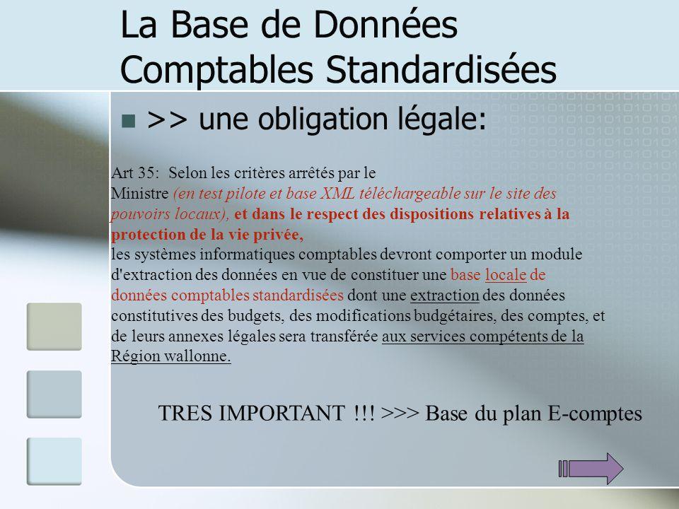 La Base de Données Comptables Standardisées