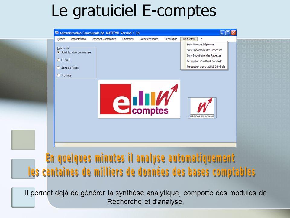 Le gratuiciel E-comptes