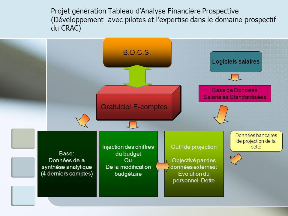 Projet génération Tableau d'Analyse Financière Prospective (Développement avec pilotes et l'expertise dans le domaine prospectif du CRAC)