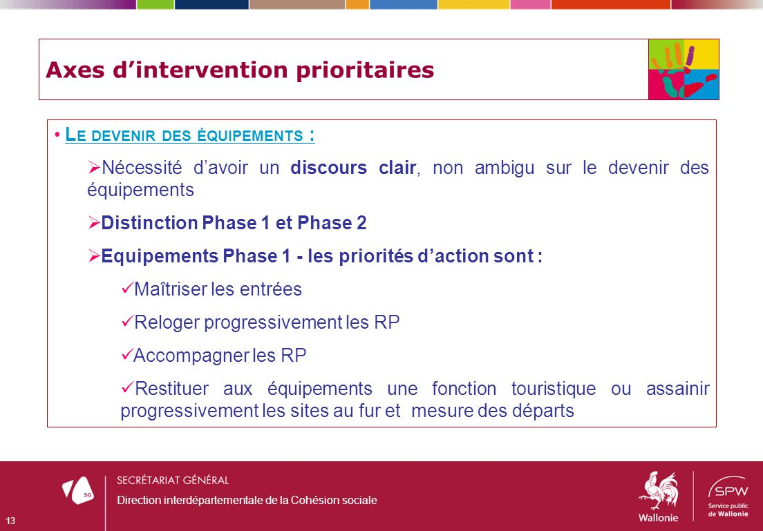 Axes d'intervention prioritaires