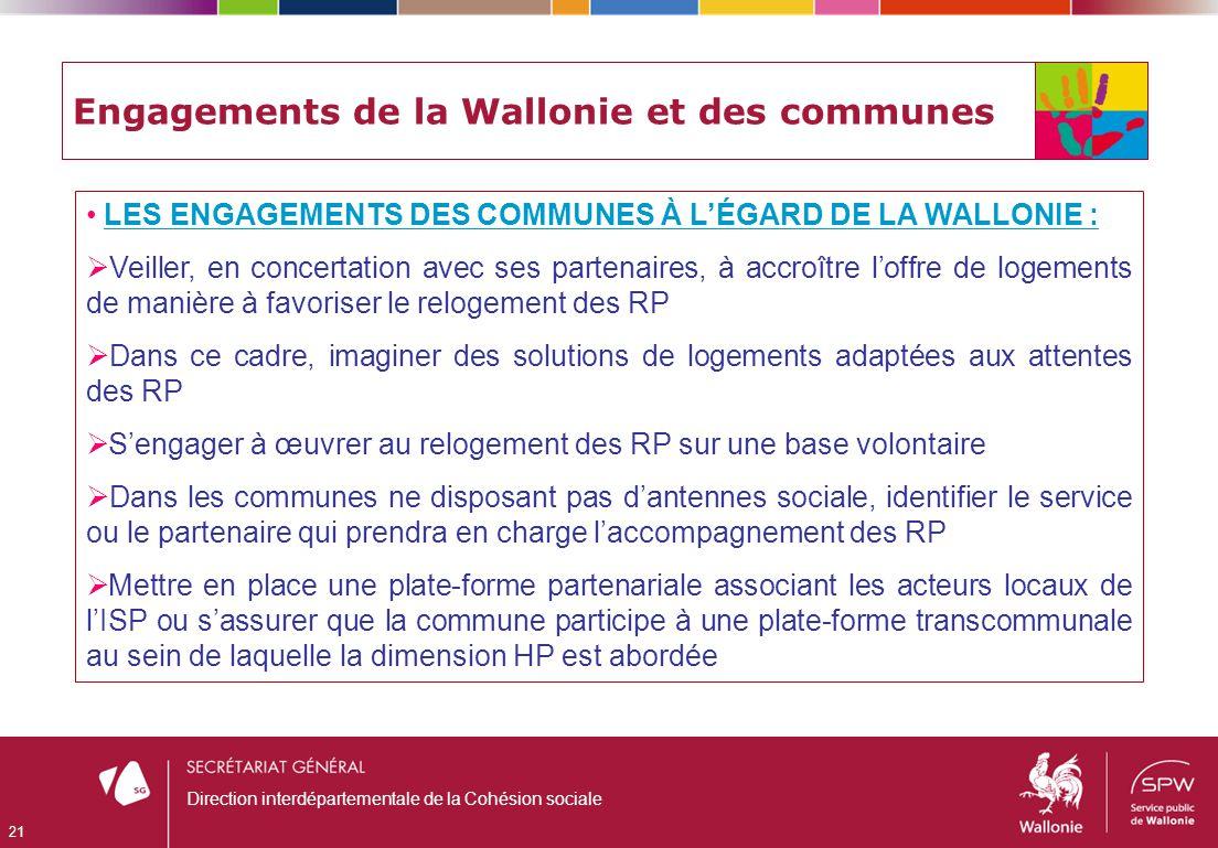 Engagements de la Wallonie et des communes