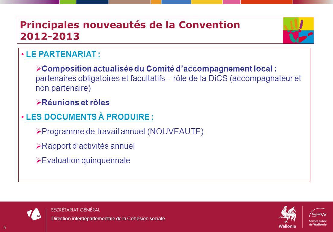 Principales nouveautés de la Convention 2012-2013