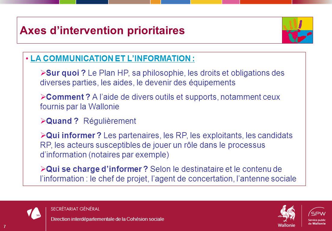 Direction interdépartementale de la Cohésion sociale