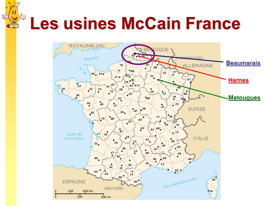Les usines McCain France