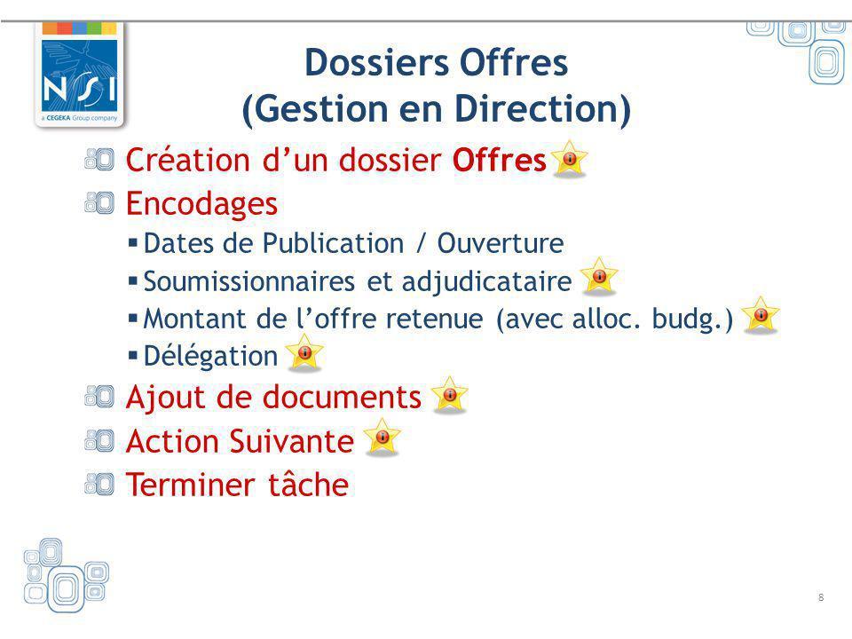 Dossiers Offres (Gestion en Direction)