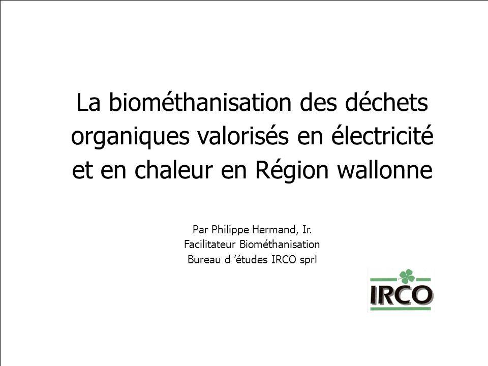 La biométhanisation des déchets organiques valorisés en électricité