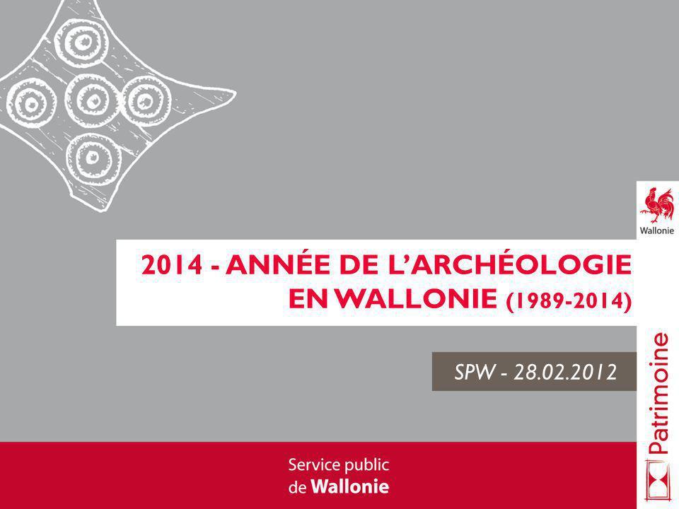2014 - Année de l'archéologie en Wallonie (1989-2014)
