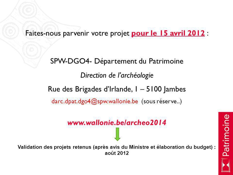 Faites-nous parvenir votre projet pour le 15 avril 2012 :