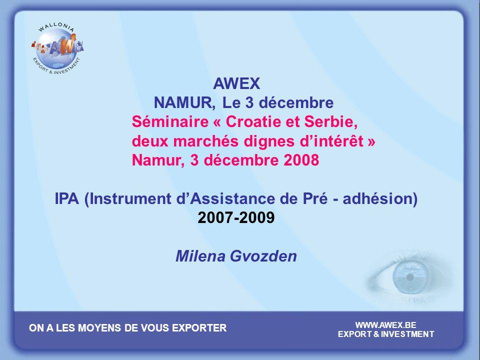 IPA (Instrument d'Assistance de Pré - adhésion)