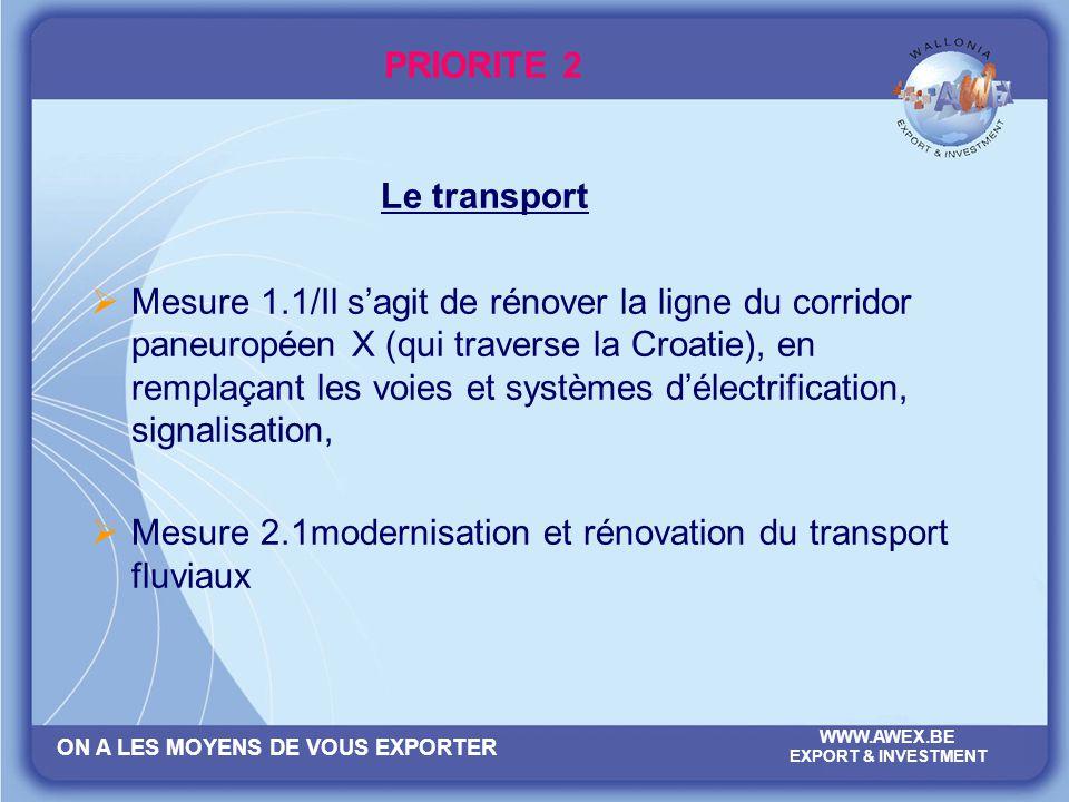 PRIORITE 2 Le transport.