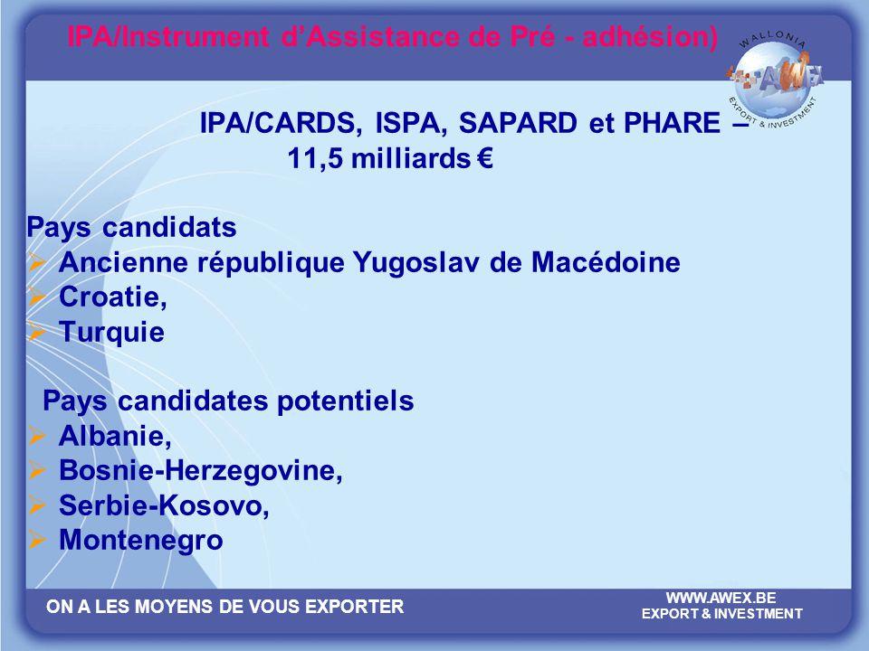 IPA/Instrument d'Assistance de Pré - adhésion)