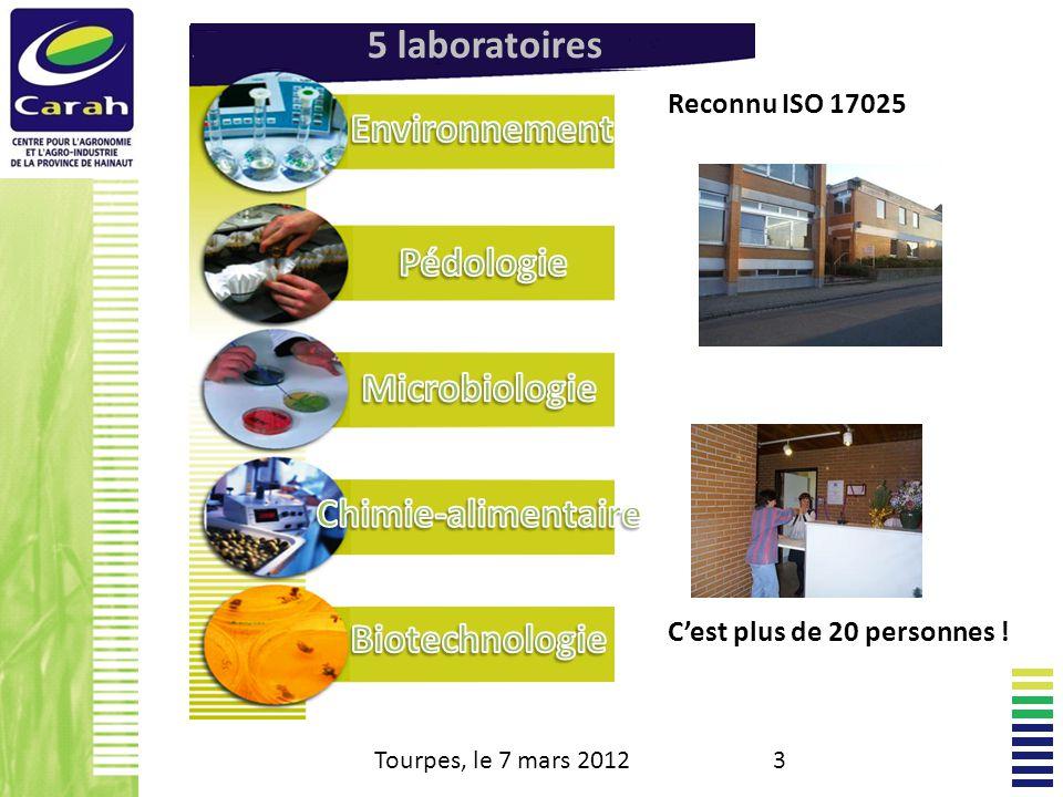 5 laboratoires Environnement Pédologie Microbiologie